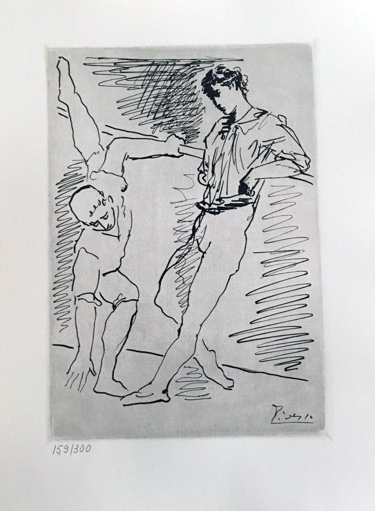 14 dessins originaux graves sur cuivre. Portofolio of 14 etching after PICASSO Pablo Picasso.