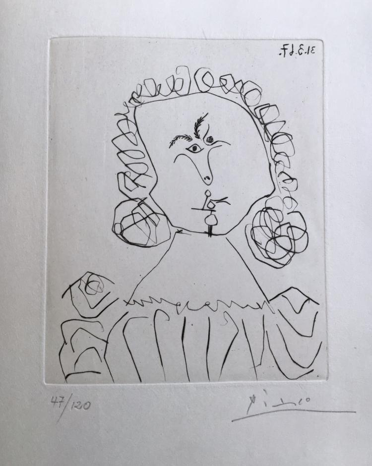Doble Ensayo Sobre Picasso. With an original drypoint by Picasso numbered and signed in pencil.