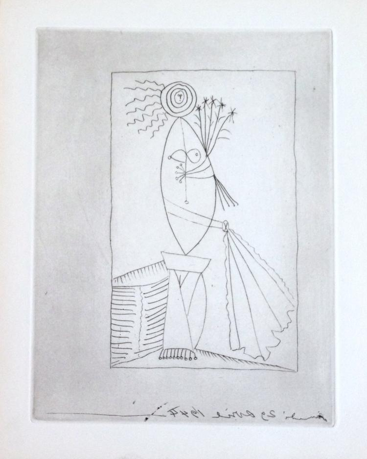 L'Age de Soleil. One of 100 copies with original etching by Pablo Picasso.