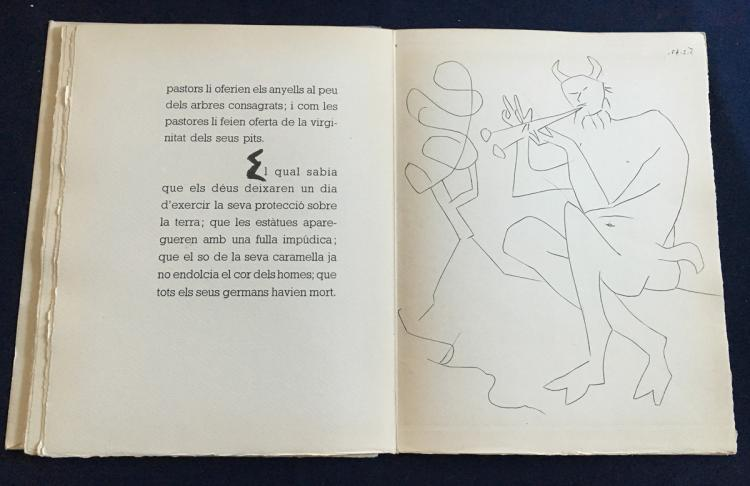 Dos Contes: Le Centaure Picador, with 4 original engravings with burin by Pablo Picasso.
