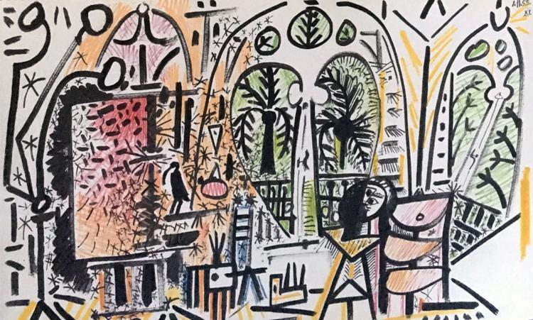 Pablo Picasso. Carnet de la Californie [Picasso's Sketchbook, 1955 - 1956].