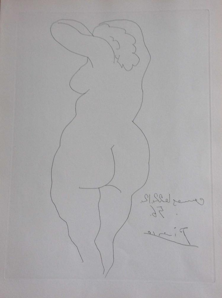 Témoignage, with an original etching by Picasso.