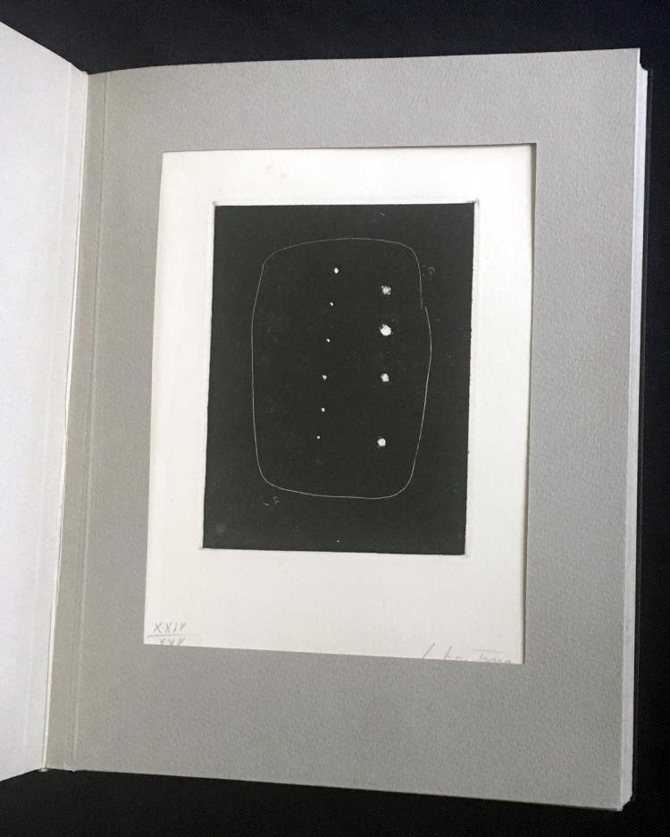 The International Avant-Garde 1, one of 100 copies, with signed and numbered prints by E. Baj, L. Del Pezzo, Lucio Fontana, J. Tinguely and others.