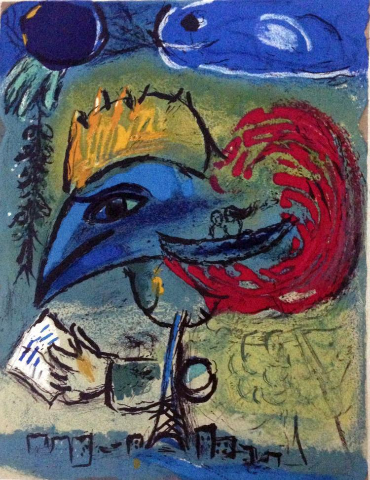 Marc Chagall. Le Coq Blue. after, 1952.