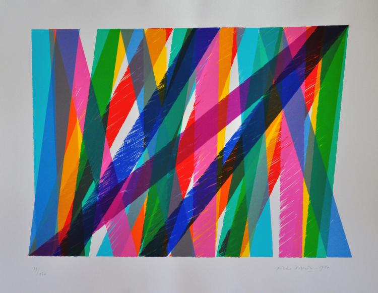 Piero Dorazio. Abstract Strips. Silkscreen signed and numbered by the artist.