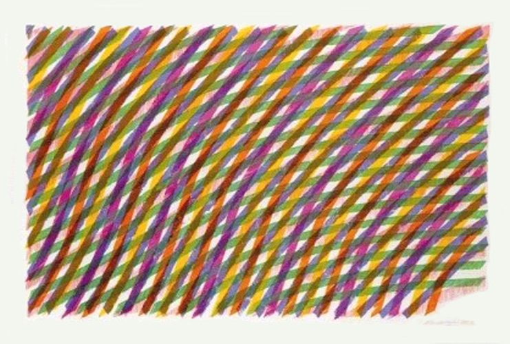 Piero Dorazio. Abstract Lines. Silkscreen signed and numbered by the artist.
