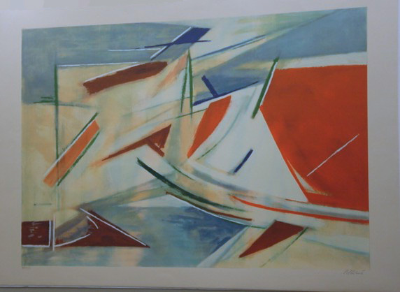 Armando Pizzinato. Abstract.  Original Silkscreen signed and numbered by the artist.