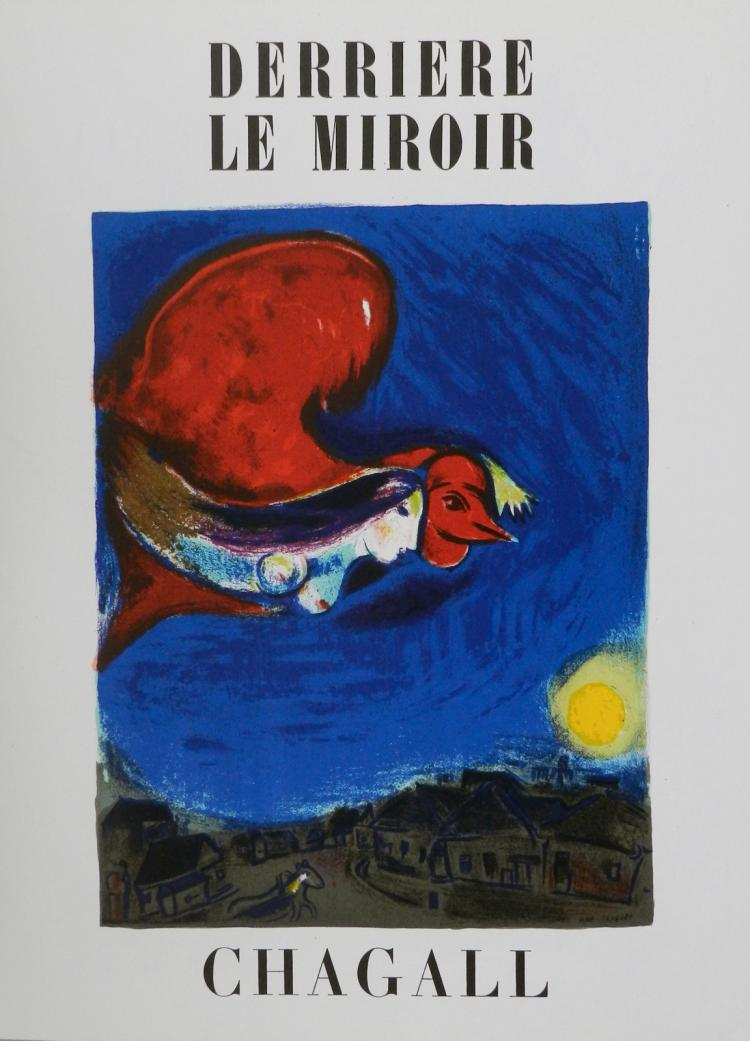 Derriere le miroir 27 28 with original lithographs by chagal for Miroir original
