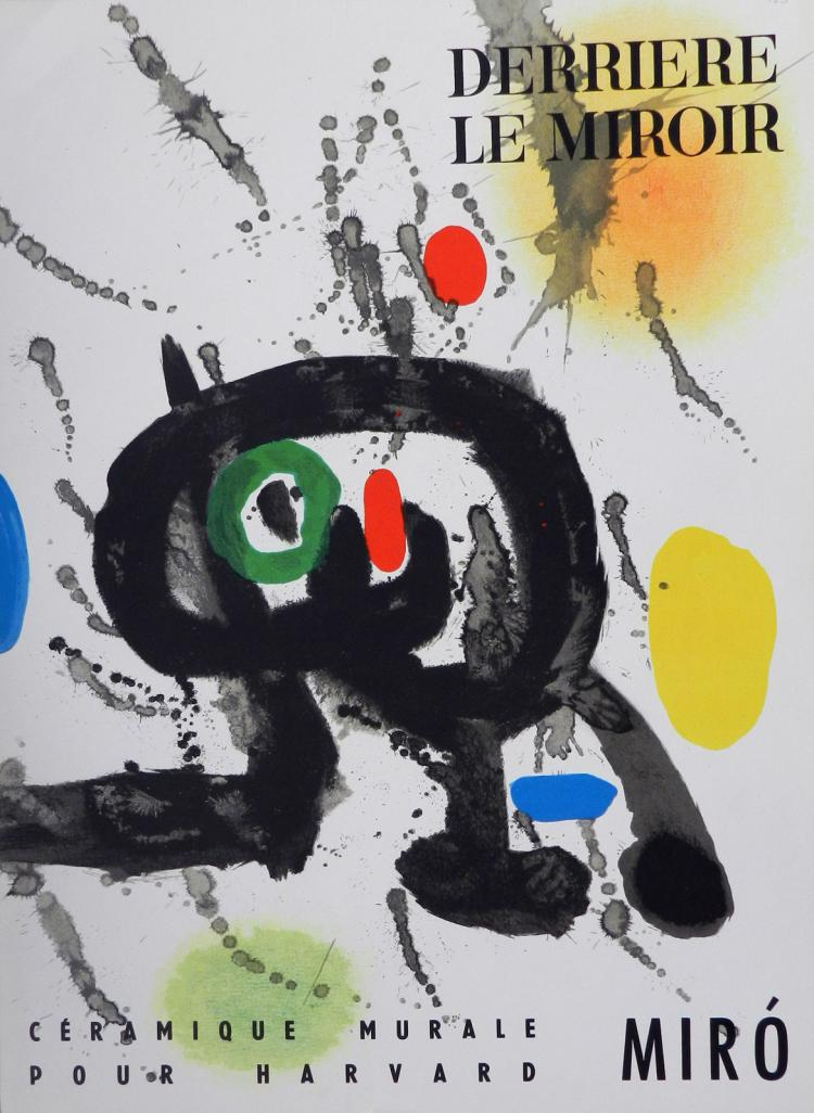 Derriere le miroir 123 with original lithographs by miro for Miro derriere le miroir