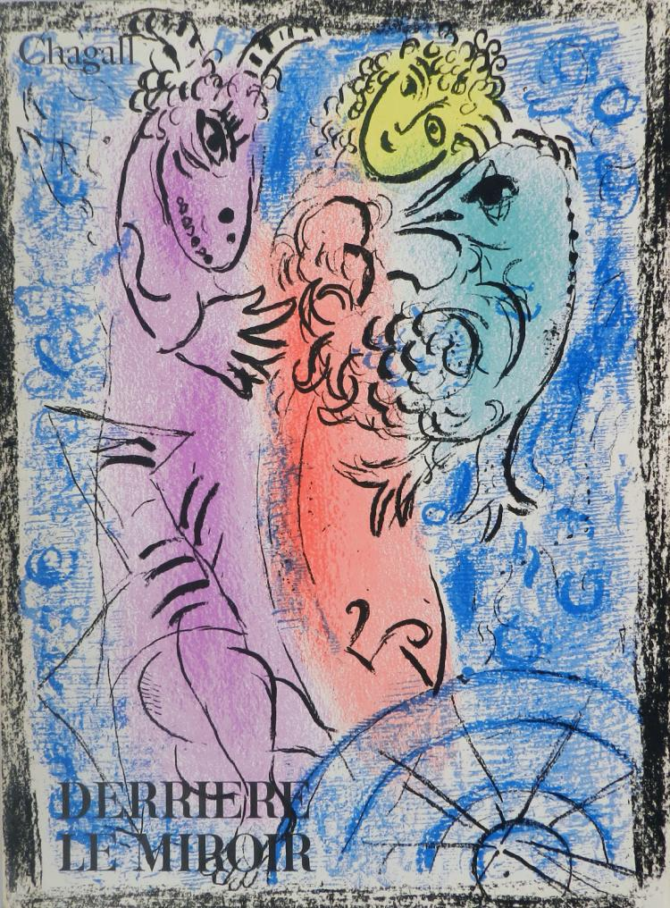 Derriere le miroir 132 with original lithographs by chagall for Miroir original