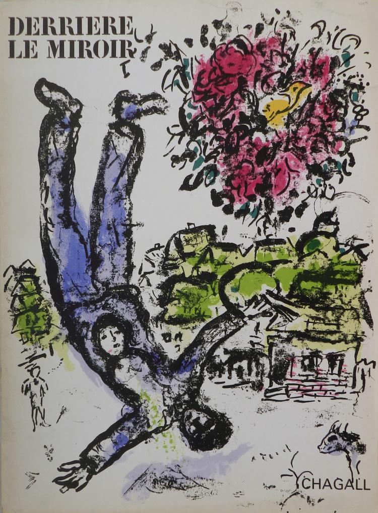 Derriere le miroir 147 with original lithographs by chagall for Miroir original