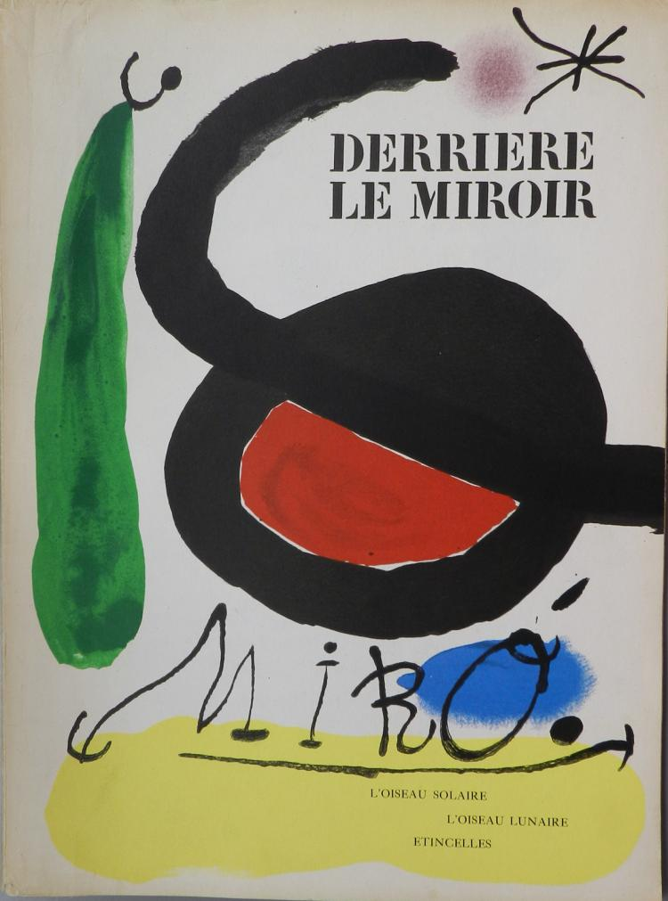 Derriere le miroir 164 165 with original lithographs by miro for Miroir original