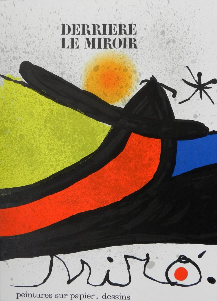 Derriere le miroir 193 194 with original lithographs by miro for Derriere le miroir