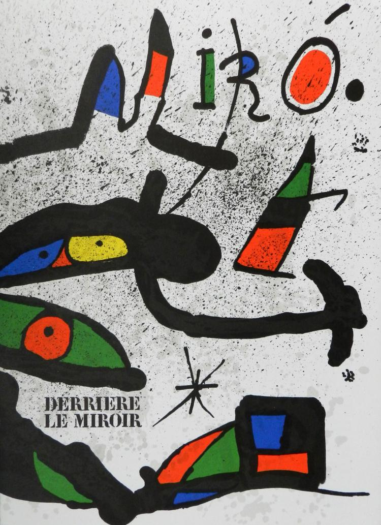 Derriere le miroir 231 with 2 lithographs by miro for Miro derriere le miroir