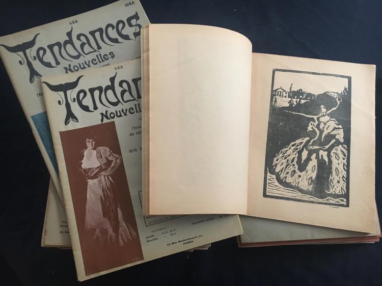 Revue Les Tendances Nouvelles, near complete, with 36 original woodcuts by Kandinsky, 1904/1914.