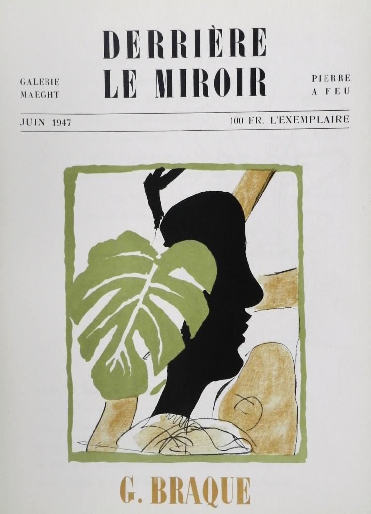Derriere le miroir 4 one original lithographs in color by b for Derriere le miroir