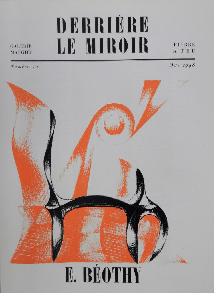 Derriere le miroir 10 1948 original lithographs by beothy for Miroir original
