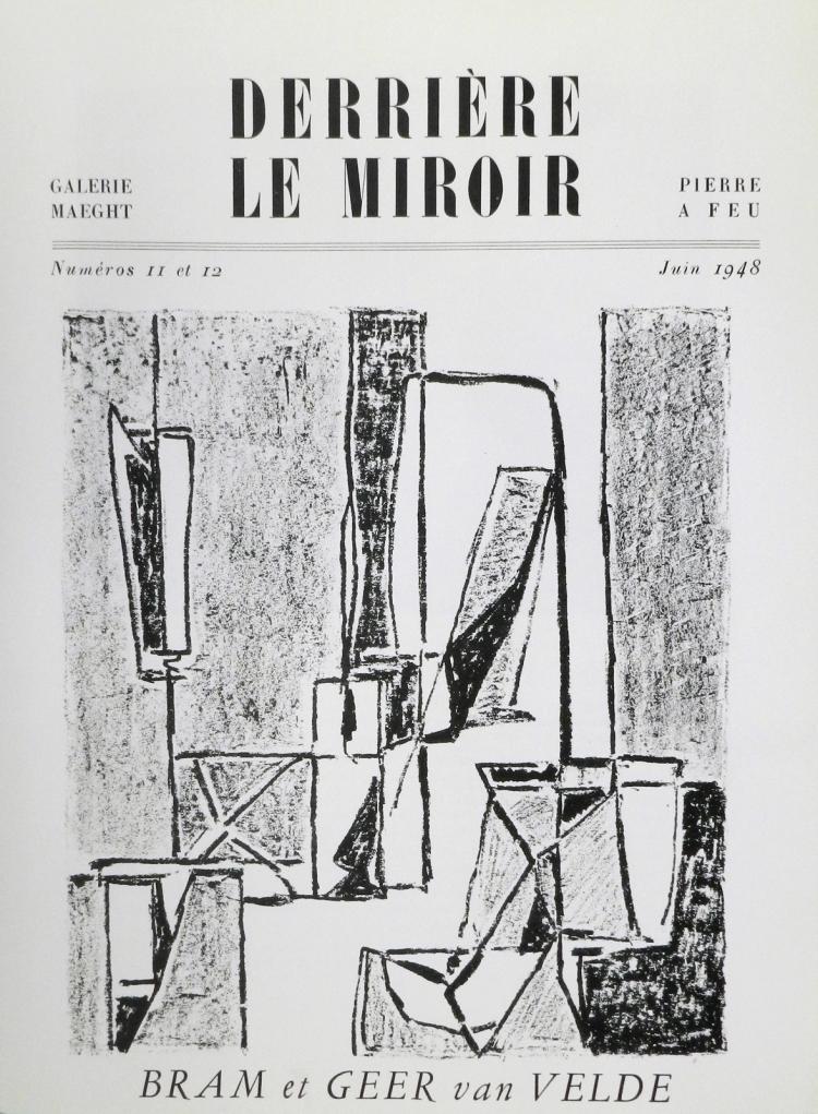 Derriere le Miroir 11-12. 1948 Original lithographs by Geer van Velde