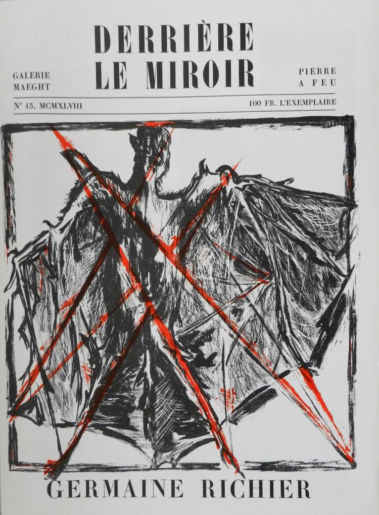 Derriere le miroir 13 1948 original lithograph by richier for Miroir original