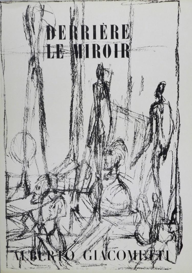 Derriere le miroir 39 40 3 original lithographs by giacomet for Derriere le miroir giacometti