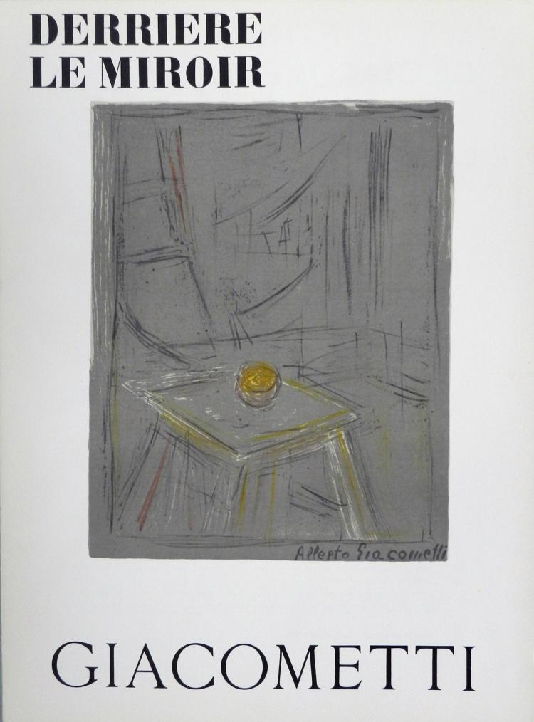 derriere le miroir 65 3 lithographs in color by giacometti