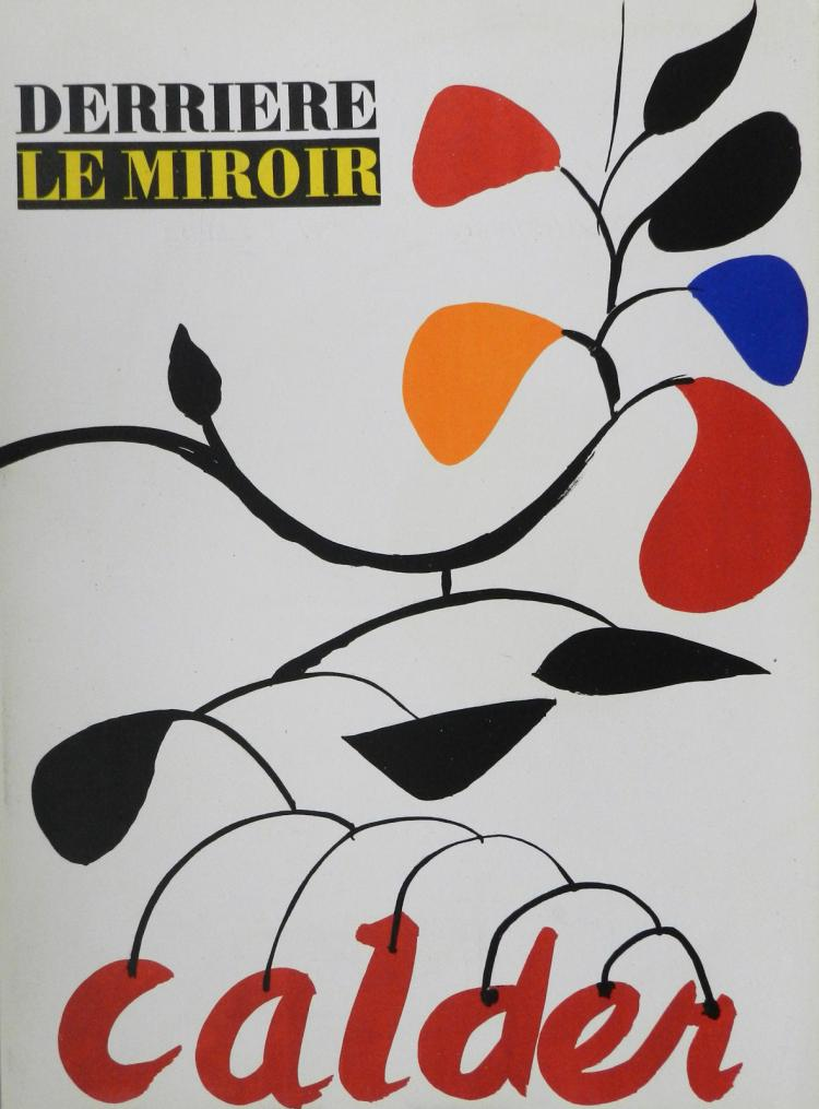 Derriere le miroir 69 70 3 original lithographs in color by for Derriere le miroir calder