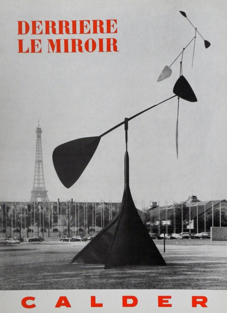 Derriere le miroir 113 2 original lithographs by calder for Derrier le miroir