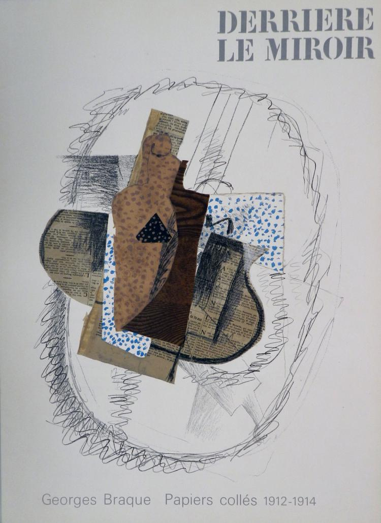 Derriere le miroir 138 5 lithographs in color after braque for Derrier le miroir