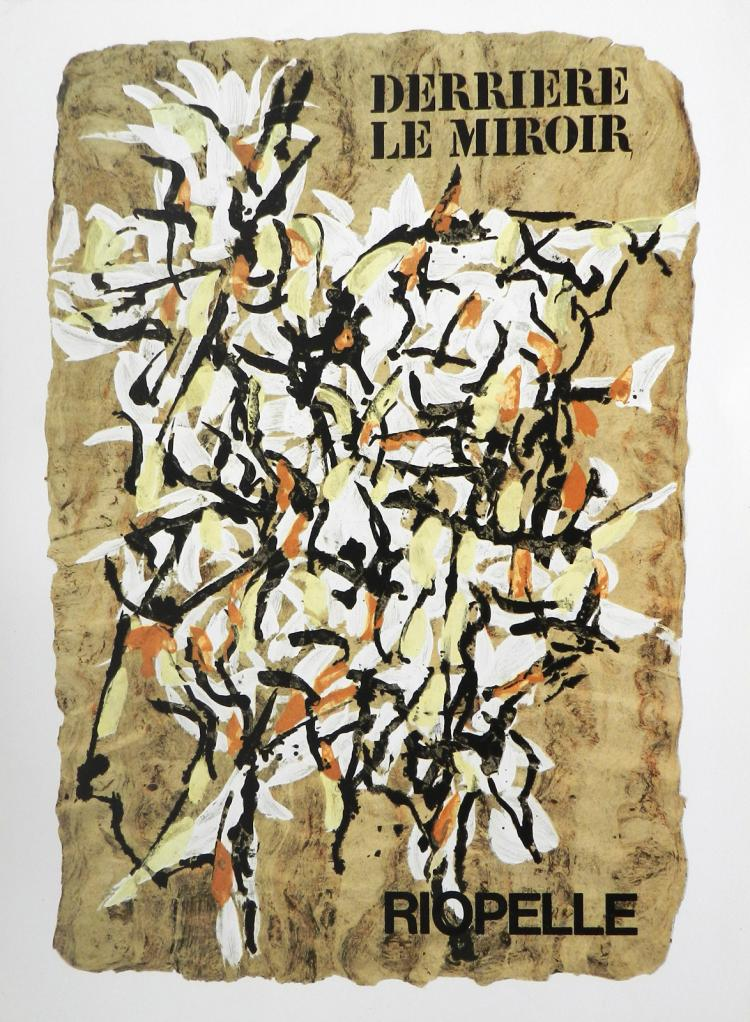 Derriere le miroir 160 original lithographs by riopelle for Derriere le miroir