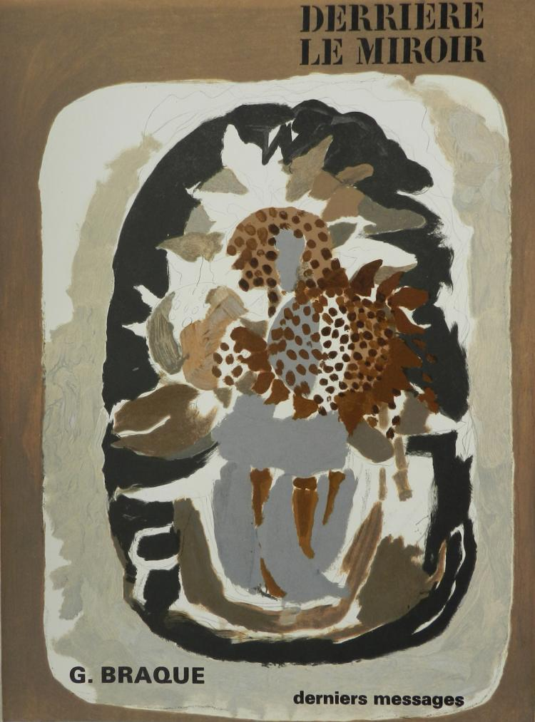 Derriere le Miroir 166. 4 lithographs in color by Braque.