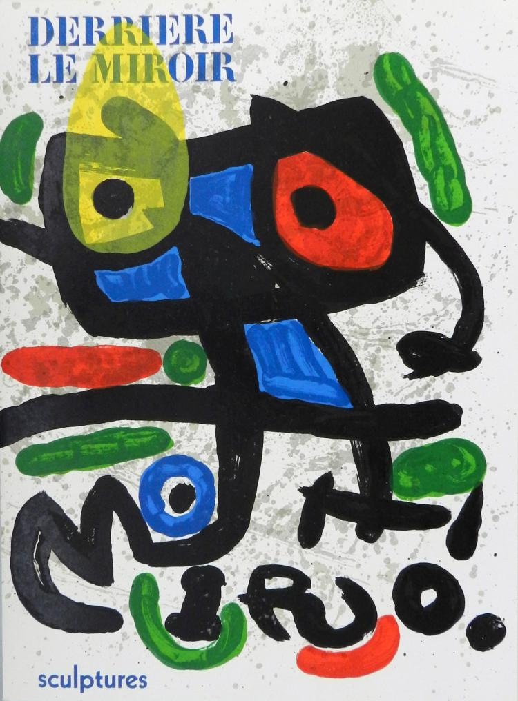 Derriere le Miroir 186. 2 original lithographs in color by Miro