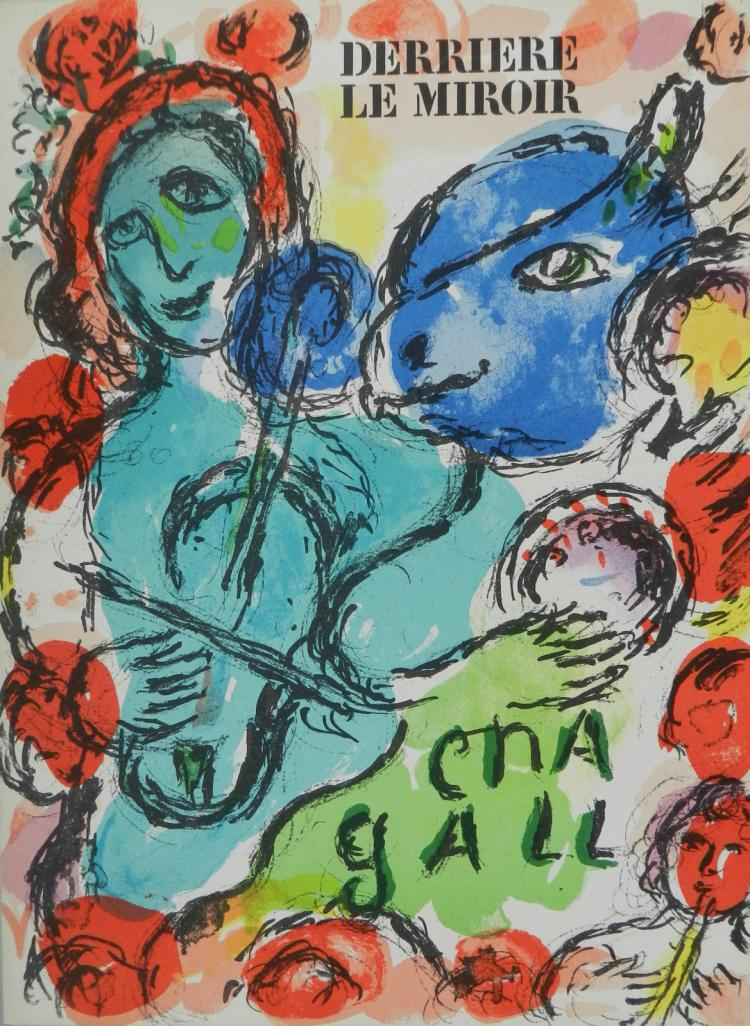 Derriere le Miroir 198. 3 original lithographs in color by Chagall.