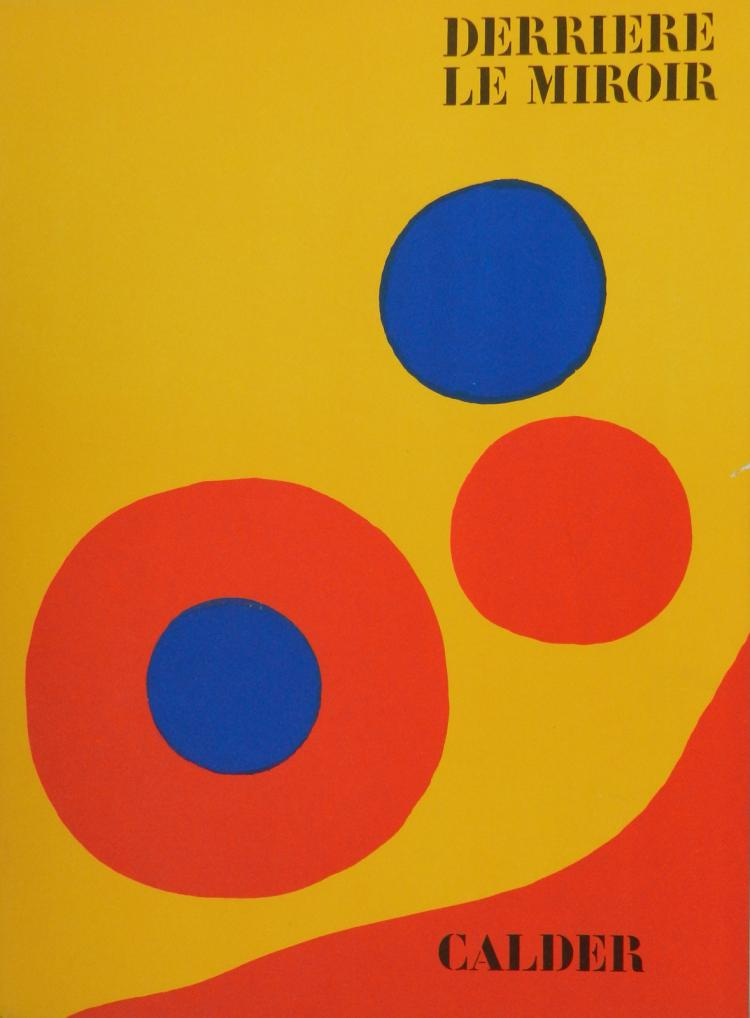 Derriere le Miroir 201. 5 original lithographs in color by Calder.