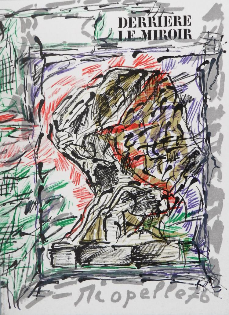 Derriere le Miroir 218. Original lithographs in color by Riopelle
