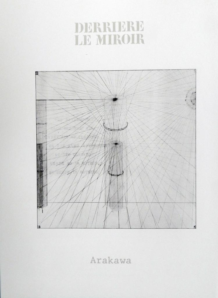 Derriere le Miroir 223. Original lithograph in color by Arakawa