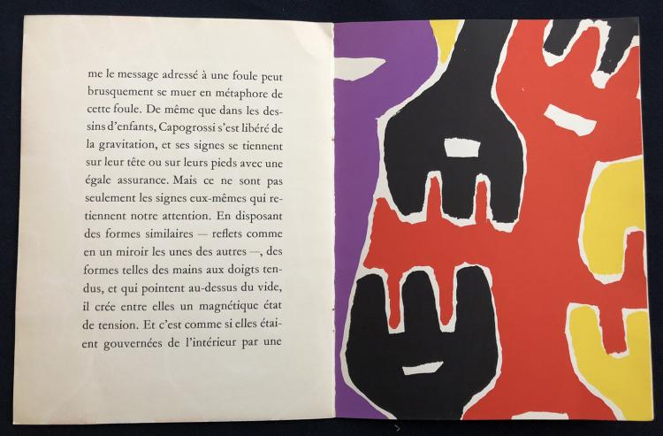 CAPOGROSSI, 1961, XXe siècle booklet with 3 original lithographs.