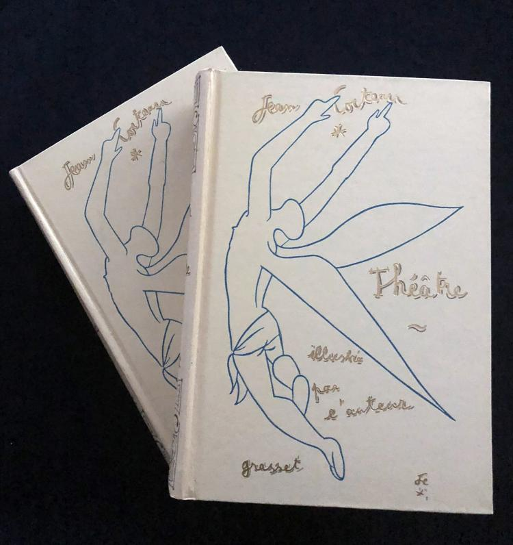Jean Cocteau Theatre – two volumes illustrated wit 40 original lithographs by Cocteau. Theatre.