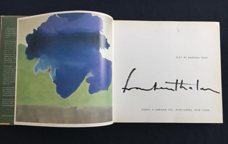 Frankenthaler, 1970, Abrams.