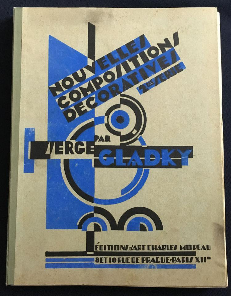 Nouvelles Compositions Decoratives, 1929, portfolio with 44 pochoirs by Gladky.