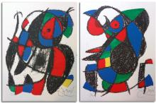 Miro` (Joan), book with 2 original signed lithographs and other 12 original lithographs.