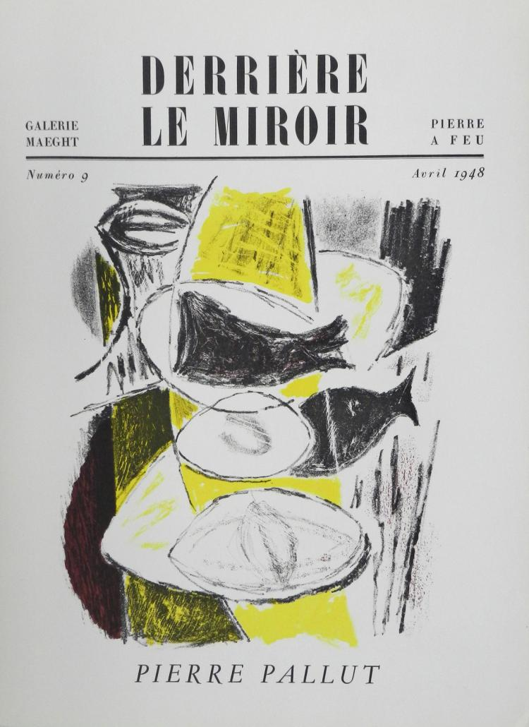 Derriere le miroir 9 1948 with original lithographs by pal for Miroir original