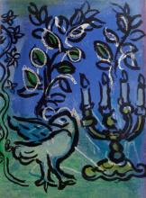 Marc Chagall.  Le Chandelier (The Candlestick) Original Lithograph 1962