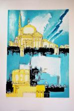 Remo Brindisi. Venezia. Silkscreen signed and numbered by the artist.