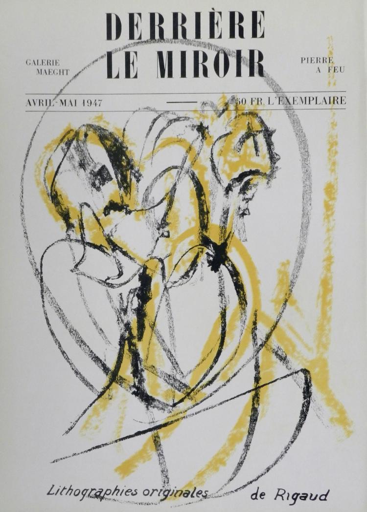 Derriere le Miroir 3, 1947. Rigaud.