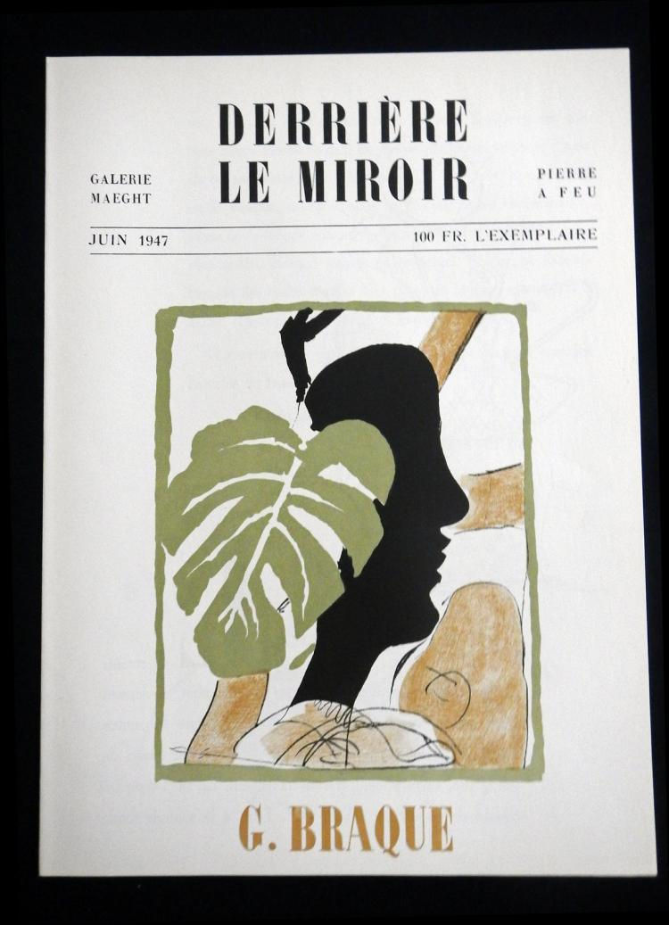 Derriere le Miroir 4, 1947, with one original lithographs in color by Braque.