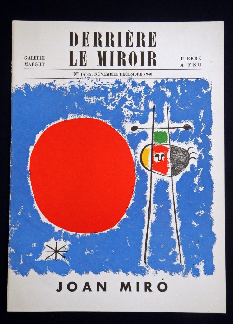 Derriere le Miroir 14-15, 1948, with 7 lithographs by Miro`.