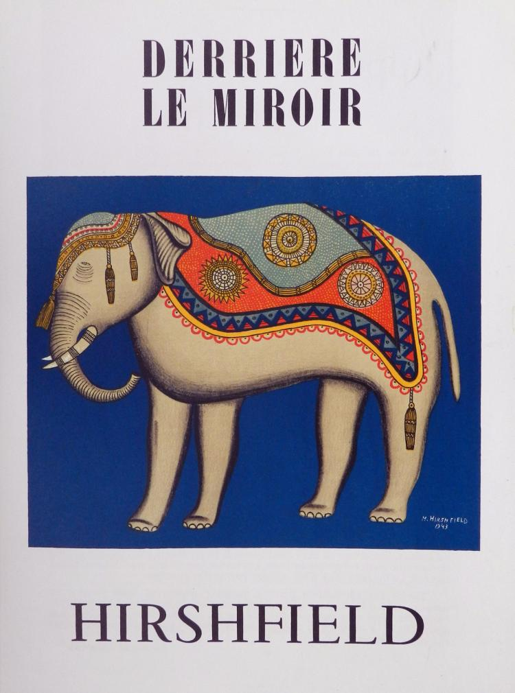 Derriere le Miroir 35, 1951, with original lithographs by Hirshfield.