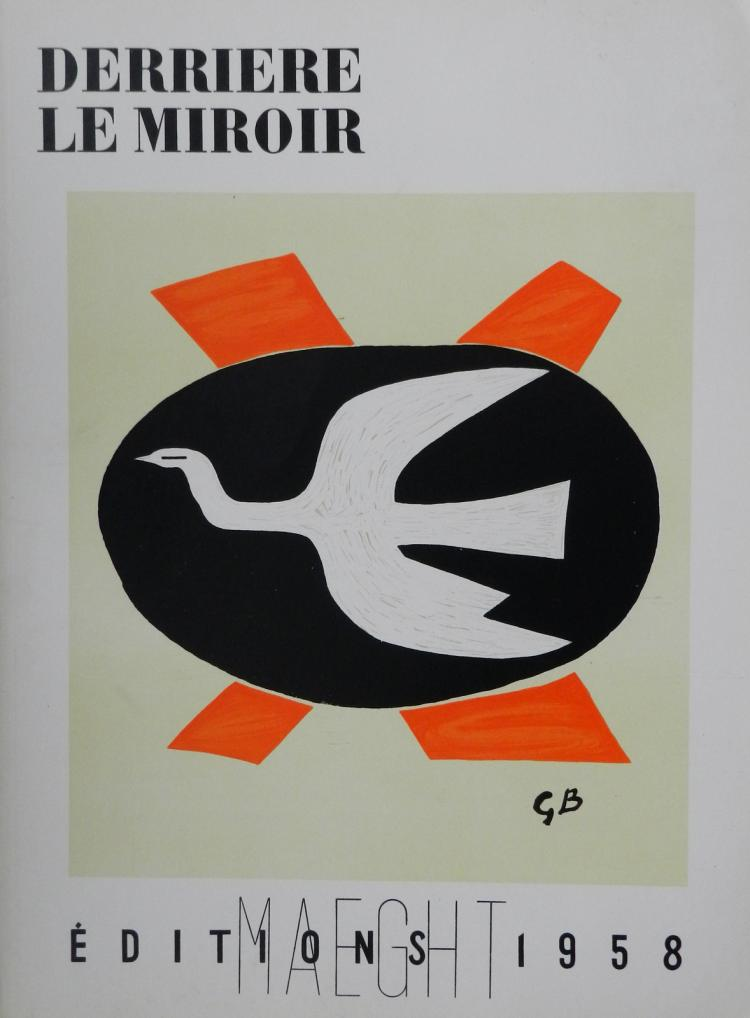 Derriere le miroir 112 1958 with original lithographs by g for Miroir original