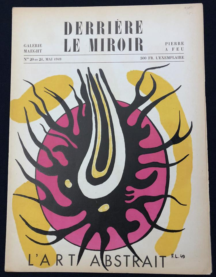 Derriere le miroir 20 21 1949 original lithographs by f l for Miroir original