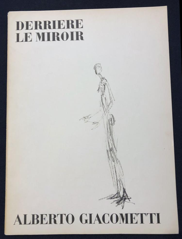 Derriere le miroir 98 1957 with original lithographs by gi for Derriere le miroir giacometti